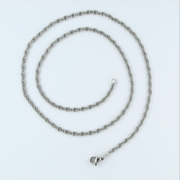 Stainless Steel Greek Chain 48cm