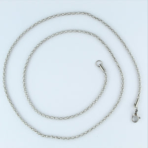 Stainless Steel Popcorn Chain 60cm