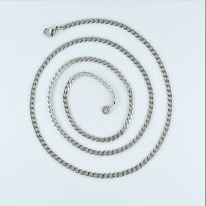 Stainless Steel Flat Curb Chain 76cm