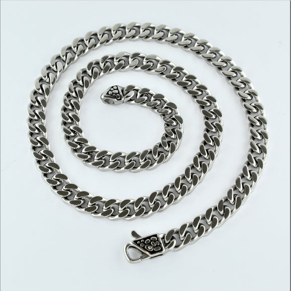 Stainless Steel Flat Curb Chain 55cm