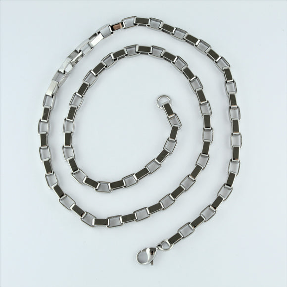 Stainless Steel Square Chain 55cm