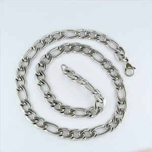 Stainless Steel Figaro Chain 56cm