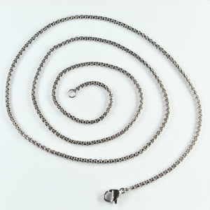 Stainless Steel Round Box Chain 60cm