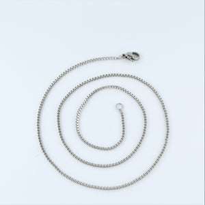 Stainless Steel Box Chain 45cm