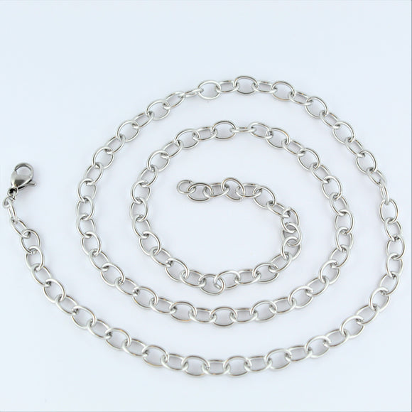 Stainless Steel Oval Chain 54cm
