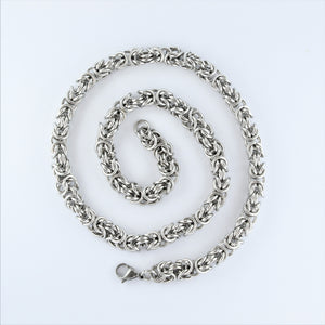 Stainless Steel Byzantine Chain 50cm