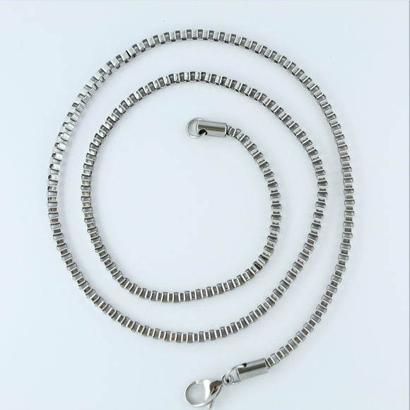 Stainless Steel Box Chain 60cm