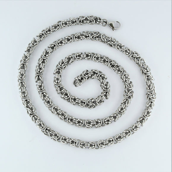 Stainless Steel Byzantine Chain 76cm