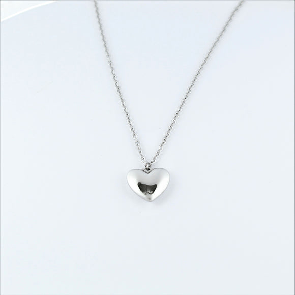 Stainless Steel Heart on Chain 45cm