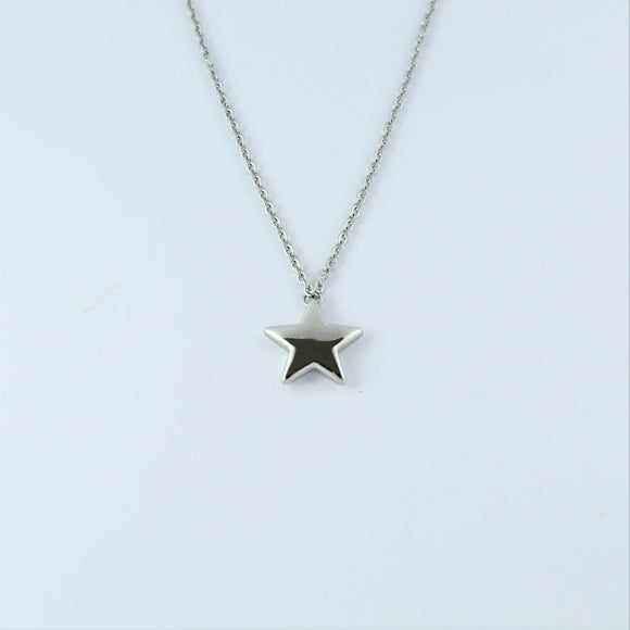 Stainless Steel Star on Chain 45cm