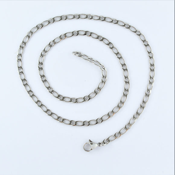 Stainless Steel Figaro Chain 50cm