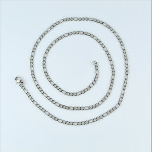 Stainless Steel Figaro Chain 55cm