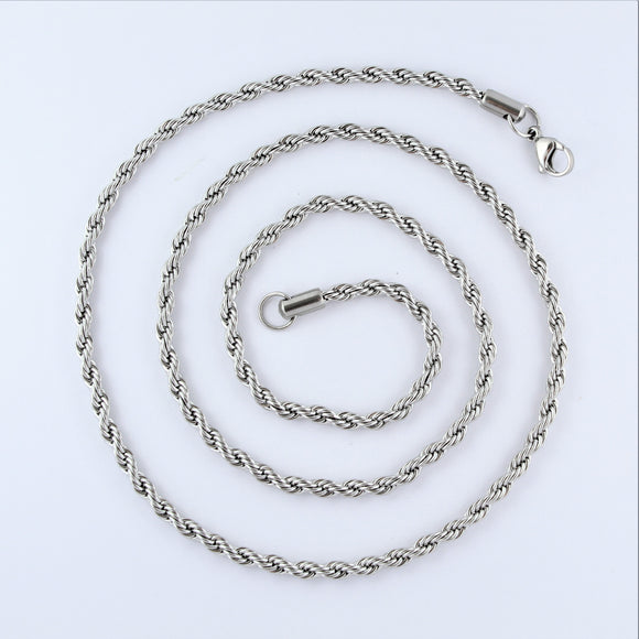 Stainless Steel Rope Chain 70cm