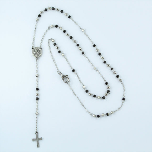 Stainless Steel Rosary Bead Chain 54cm