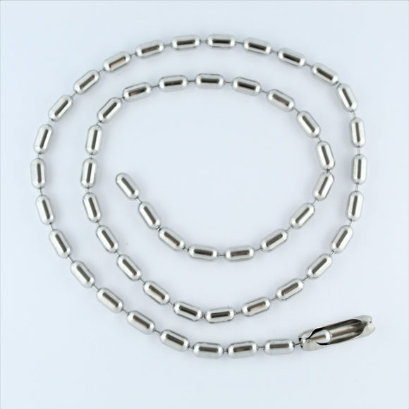 Stainless Steel Bar Chain 63cm