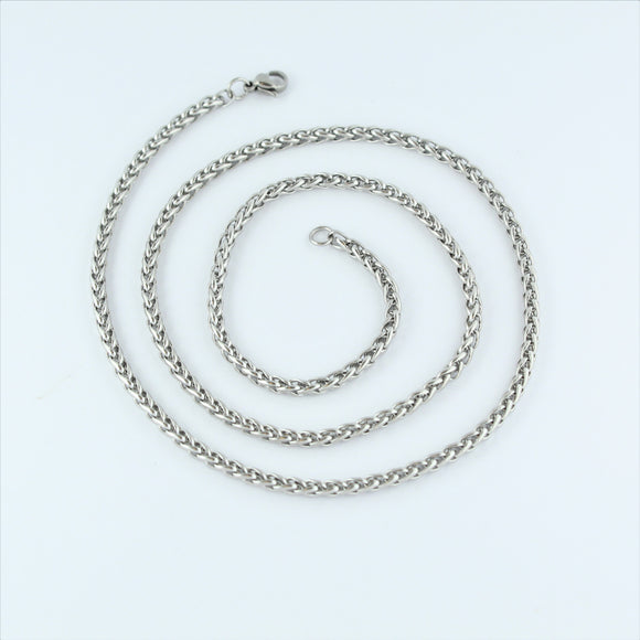 Stainless Steel Weave Chain 55cm