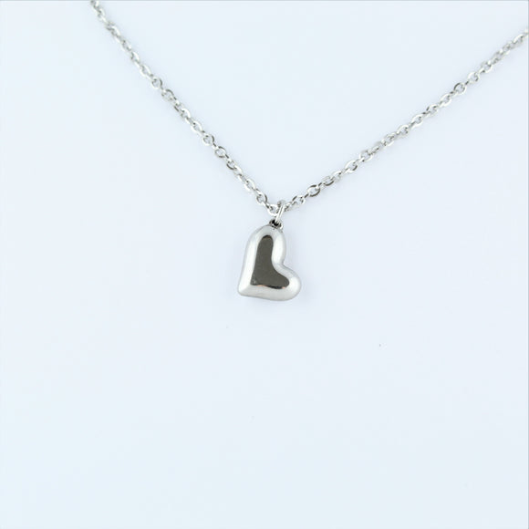 Stainless Steel Heart On Chain 60cm