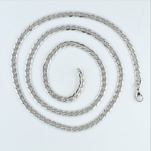 Stainless Steel 71cm Etched Curb Chain
