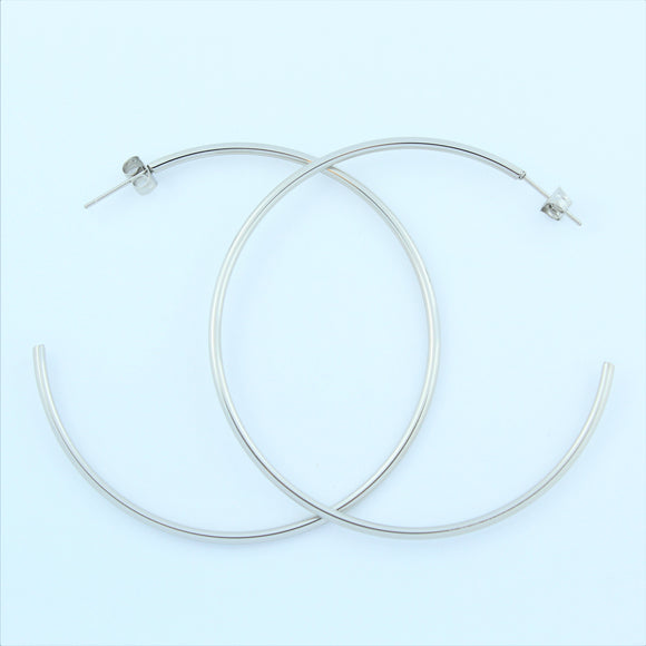 Stainless Steel 62mm Hoop Earrings