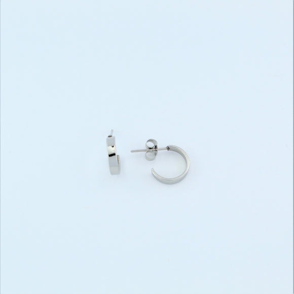 Stainless Steel 12mm Hoop Earrings