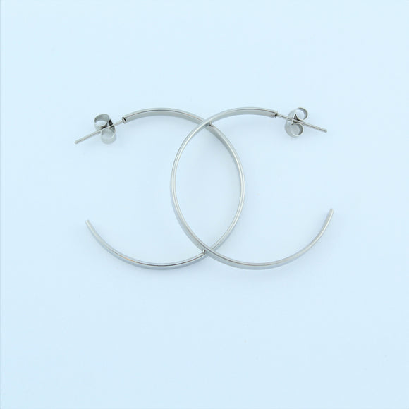 Stainless Steel 35mm Hoop Earrings