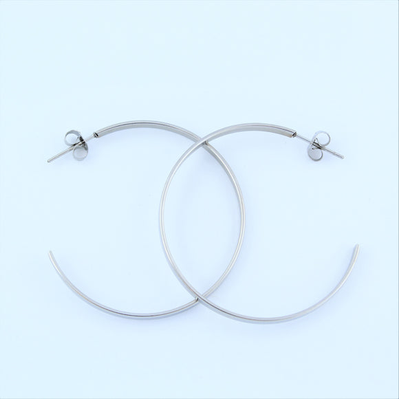 Stainless Steel 43mm Hoop Earrings