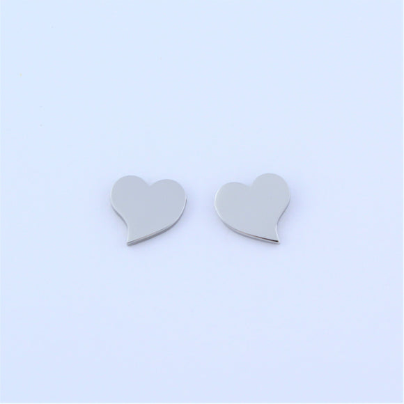 Stainless Steel Heart Earrings