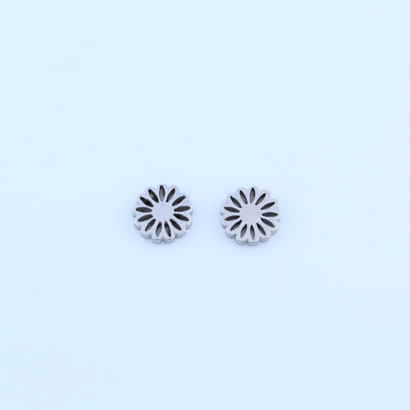 Stainless Steel Small Daisy Earrings