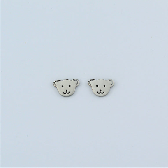 Stainless Steel Bear Earrings