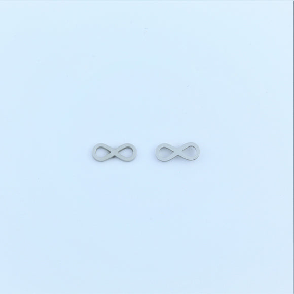 Stainless Steel Infinity Earrings