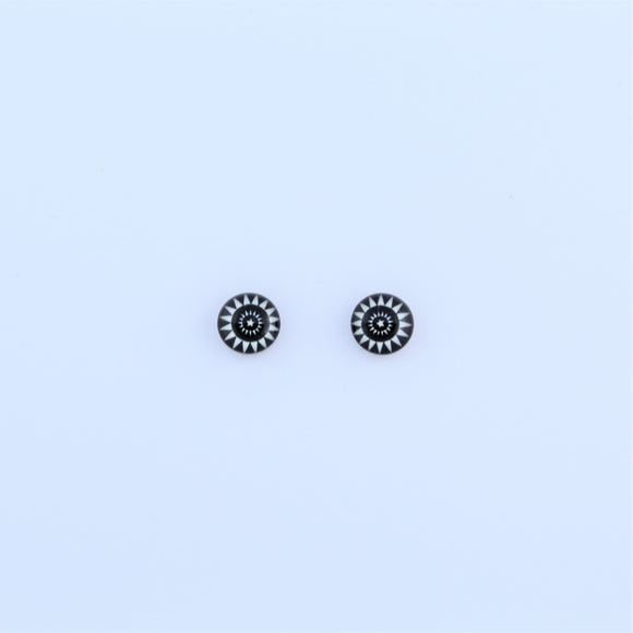 Stainless Steel 7mm Sun Earrings