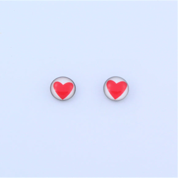 Stainless Steel 7mm Heart Earrings