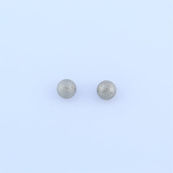 Stainless Steel 7mm Sandblasted Ball Earrings