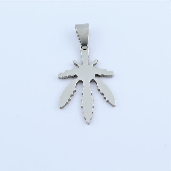Stainless Steel Leaf Pendant