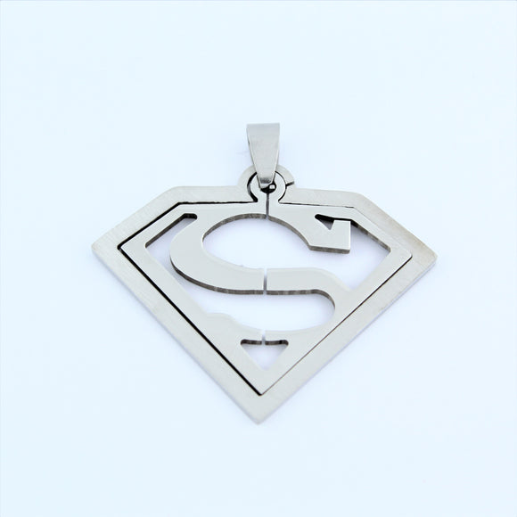 Stainless Steel Superman Pendant 1