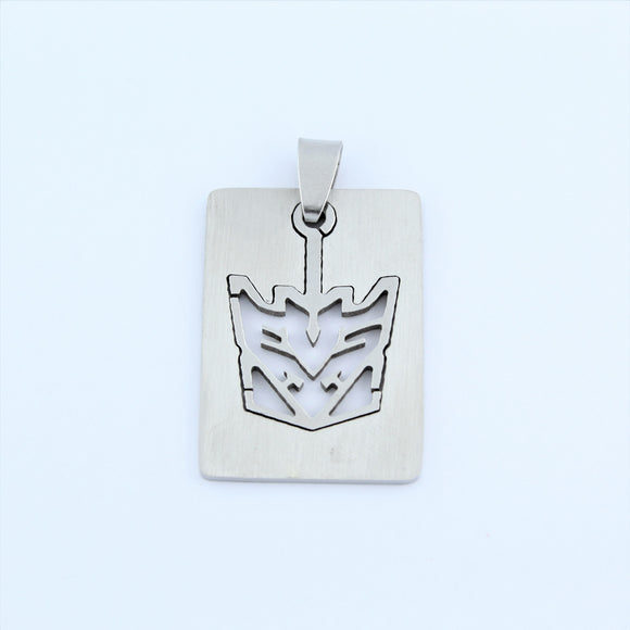 Stainless Steel Decepticon Transformer Pendant