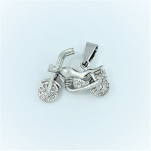 Stainless Steel Small Motobike Pendant