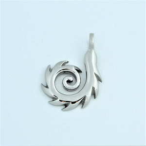 Stainless Steel Tribal Swirl Pendant