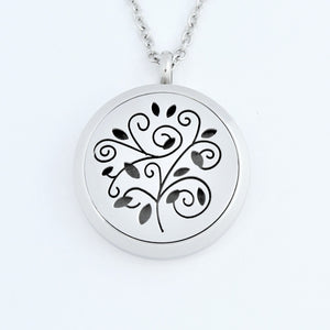 Stainless Steel Spiral Tree Scent Pendant