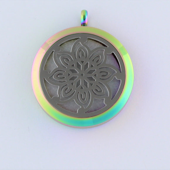 Stainless Steel Retro Flower Scent Pendant