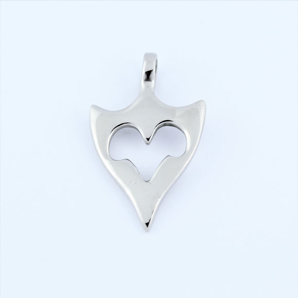 Stainless Steel Tribal Triangle Pendant 2