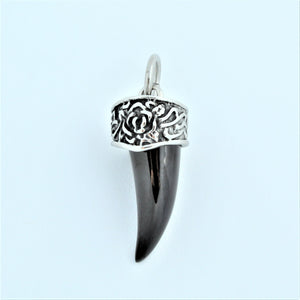 Stainless Steel Lucky Black Horn Pendant