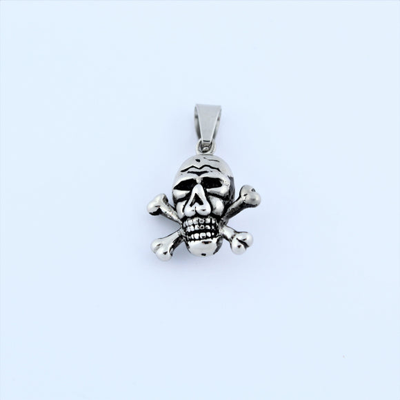 Stainless Steel Skull And Crossbones Pendant