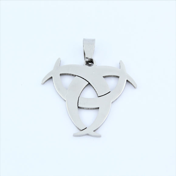 Stainless Steel Biohazard Pendant