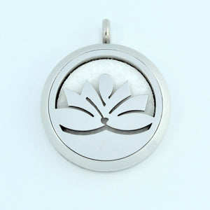 Stainless Steel Lotus Scent Pendant