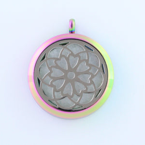 Stainless Steel Heart Flower Scent Pendant