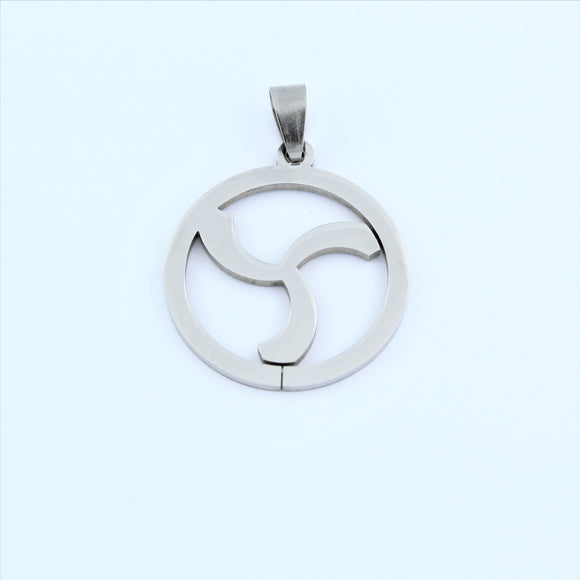 Stainless Steel Tribal Disc Pendant 5