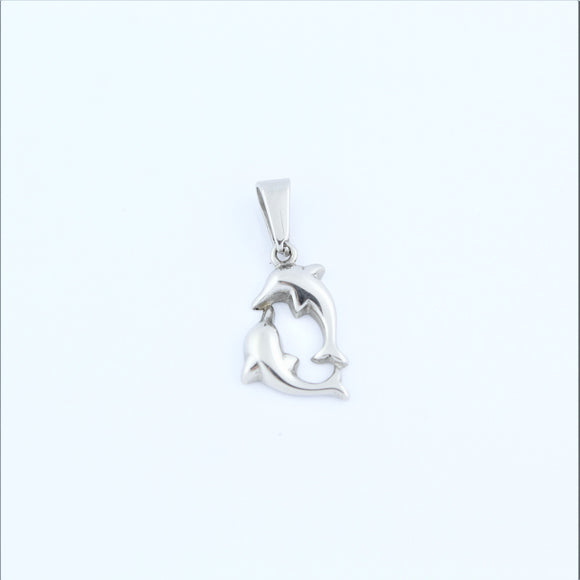 Stainless Steel Double Dolphins Pendant