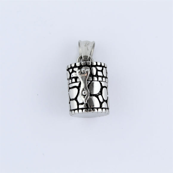 Stainless Steel Small Prayer Cylinder Pendant