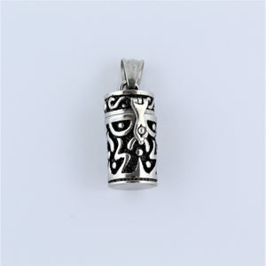 Stainless Steel Prayer Cylinder Pendant